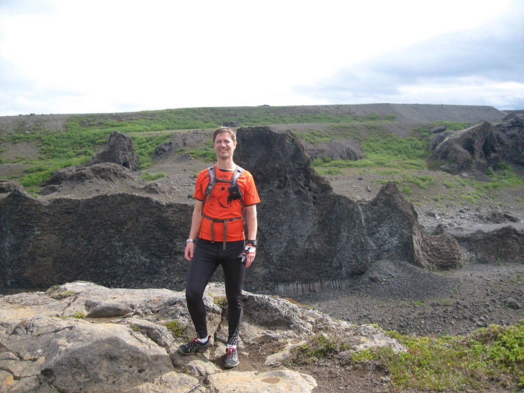 One happy Running Guide doing our three day Dettifoss Trail adventure!